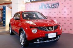 ΜΠΑΝΓΚΟΚ ΤΑΪΛΑΝΔΗ - 23 ΑΥΓΟΎΣΤΟΥ 2014: Nissan Juke στη μεγάλη πώληση μηχανών, Bitec Bangna, Μπανγκόκ Ταϊλάνδη Στοκ Φωτογραφίες