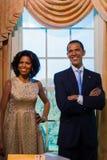ΜΠΑΝΓΚΟΚ, ΤΑΪΛΑΝΔΗ - 19 ΔΕΚΕΜΒΡΊΟΥ: Μια κηροπλαστική Barack και της Michell Στοκ Φωτογραφίες