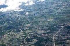 Μπανγκόκ από τον ουρανό Στοκ φωτογραφία με δικαίωμα ελεύθερης χρήσης