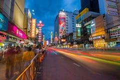 15.2017 Μπανγκόκ-ΙΟΥΛΙΟΥ: Πόλη της Κίνας Yaowarat ένας από το διάσημο προορισμό ταξιδιού της Ταϊλάνδης Στοκ φωτογραφίες με δικαίωμα ελεύθερης χρήσης