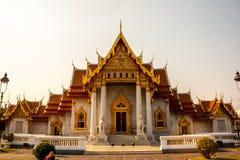 Μπανγκόκ, μαρμάρινος ναός Στοκ Φωτογραφίες