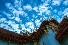 Μπανγκόκ, μαρμάρινος ναός Στοκ Εικόνες