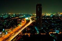 Μπανγκόκ στη νύχτα Στοκ Φωτογραφίες