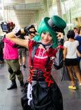 Ένα μη αναγνωρισμένο ιαπωνικό anime cosplay θέτει. Στοκ Φωτογραφίες