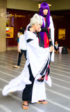 Ένα μη αναγνωρισμένο ιαπωνικό anime cosplay θέτει. Στοκ εικόνα με δικαίωμα ελεύθερης χρήσης