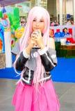 Ένα μη αναγνωρισμένο ιαπωνικό anime cosplay θέτει. Στοκ εικόνες με δικαίωμα ελεύθερης χρήσης