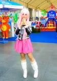 Ένα μη αναγνωρισμένο ιαπωνικό anime cosplay θέτει. Στοκ Εικόνες