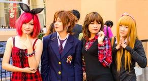 Ένα μη αναγνωρισμένο ιαπωνικό anime cosplay θέτει. Στοκ φωτογραφίες με δικαίωμα ελεύθερης χρήσης