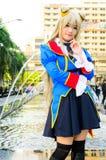 Ένα μη αναγνωρισμένο ιαπωνικό anime cosplay θέτει. Στοκ Εικόνα