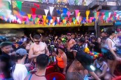 Μπανγκόκ, Ταϊλάνδη - 13 Απριλίου 2018: Διάσημο φεστιβάλ Songkran Στοκ εικόνες με δικαίωμα ελεύθερης χρήσης