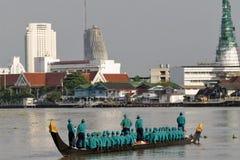 Μπανγκόκ, Ταϊλάνδη, πομπή των βασιλικών φορτηγίδων Στοκ Φωτογραφίες