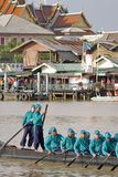 Μπανγκόκ, Ταϊλάνδη, πομπή των βασιλικών φορτηγίδων Στοκ φωτογραφία με δικαίωμα ελεύθερης χρήσης