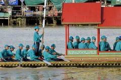 Μπανγκόκ, Ταϊλάνδη, πομπή των βασιλικών φορτηγίδων Στοκ Εικόνες