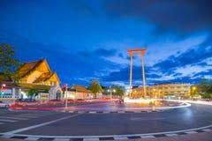 Μπανγκόκ Ταϊλάνδη - 4 Σεπτεμβρίου 2016: Η γιγαντιαία ταλάντευση Ταϊλανδός: Σάο στοκ φωτογραφίες