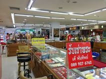 Μπανγκόκ Ταϊλάνδη, στις 24 Οκτωβρίου 2018, καταστήματα αγοράς φυλακτών και περίπτερο στοκ φωτογραφία με δικαίωμα ελεύθερης χρήσης