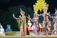 Μπανγκόκ Ταϊλάνδη - 13 Δεκεμβρίου 2015, Khon είναι δράμα χορού Tha Στοκ Φωτογραφίες