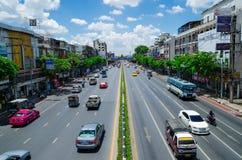 Μπανγκόκ, Ταϊλάνδη: Δρόμος και κυκλοφορία Στοκ Εικόνες