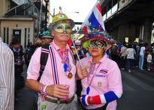 Μπανγκόκ, Ταϊλάνδη: Η λειτουργία διέκοψε τη Μπανγκόκ Protestors Στοκ Φωτογραφίες