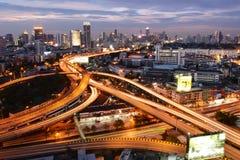 Μπανγκόκ, Ταϊλάνδη - 16 Ιανουαρίου 2016: Ορίζοντας της Μπανγκόκ με την πόλη Στοκ Εικόνες