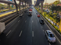 Μπανγκόκ, Ταϊλάνδη - 14 Μαρτίου 2017: Κυκλοφοριακή ροή στην οδό ι Στοκ φωτογραφίες με δικαίωμα ελεύθερης χρήσης