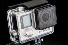 Μπανγκόκ, Ταϊλάνδη - 14 Νοεμβρίου: Ήρωας 4 GoPro κινηματογραφήσεων σε πρώτο πλάνο ο Μαύρος την 1η Νοεμβρίου Στοκ Εικόνες