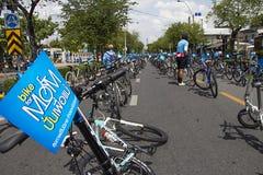 """Μπανγκόκ, Ταϊλάνδη, στις 16 Αυγούστου - 2015: """"Bike το ιστορικό γεγονός Mom† που τίθεται ως στόχος για να αρχίσει το παγκόσμ Στοκ Εικόνες"""