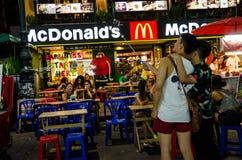 Μπανγκόκ, Ταϊλάνδη: Τουριστικό αξιοθέατο τη νύχτα Στοκ Εικόνες