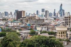 Μπανγκόκ, Ταϊλάνδη - το Σεπτέμβριο του 2015 circa: Άποψη της Μπανγκόκ από το χρυσό βουνό, Wat Saket, Ταϊλάνδη στοκ φωτογραφίες