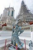 Μπανγκόκ-Wat Arun είναι ένας βουδιστικός ναός στην περιοχή της Μπανγκόκ Yai της Μπανγκόκ, Ταϊλάνδη, στο Thonburi Δυτική Όχθη του  Στοκ Φωτογραφία