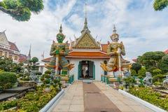 Μπανγκόκ-Wat Arun είναι ένας βουδιστικός ναός στην περιοχή της Μπανγκόκ Yai της Μπανγκόκ, Ταϊλάνδη, στο Thonburi Δυτική Όχθη του  Στοκ Εικόνες