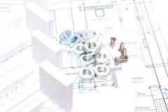 Μπανιέρα Installinga στο λουτρό στοκ εικόνα με δικαίωμα ελεύθερης χρήσης