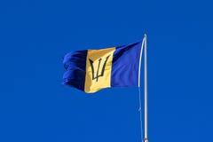 Μπαρμπάντος: Εθνική σημαία Στοκ Εικόνα