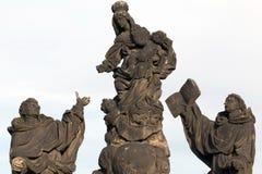 Μπαρόκ αγάλματα Madonna, Αγίου Dominic και του Thomas Aquinas επάνω Στοκ φωτογραφίες με δικαίωμα ελεύθερης χρήσης