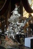 Μπαρόκ ασημένιος τάφος του ST John Nepomuk Στοκ εικόνες με δικαίωμα ελεύθερης χρήσης