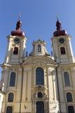 Μπαρόκ βασιλική του Visitation Virgin Mary, θέση του προσκυνήματος, Hejnice, Δημοκρατία της Τσεχίας στοκ εικόνα