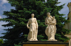 Μπαρόκ γλυπτά των αποστόλων σε Jaroslaw, Πολωνία Στοκ φωτογραφία με δικαίωμα ελεύθερης χρήσης