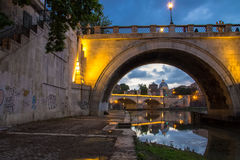 μπαρόκ γλυπτό της Ιταλίας ponte Ρώμη γεφυρών του Angelo αγγέλου sant Στοκ Φωτογραφίες