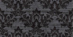 Μπαρόκ διάνυσμα σύστασης σχεδίων Βασιλικό υπόβαθρο υφάσματος Πλήρη μαύρα χρώματα ντεκόρ υποβάθρου πολυτέλειας Στοκ εικόνες με δικαίωμα ελεύθερης χρήσης