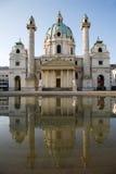 μπαρόκ εκκλησία Βιέννη Charles boromeo στοκ εικόνα με δικαίωμα ελεύθερης χρήσης