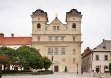 Μπαρόκ εκκλησία Jesuits σε Kosice Σλοβακία στοκ εικόνες