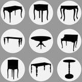 Μπαρόκ επιτραπέζιοι τύποι καθορισμένοι Στοκ Φωτογραφίες