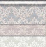Μπαρόκ καθορισμένο διάνυσμα σύστασης χρώματος σχεδίων πλήρες Βασιλικά ντεκόρ υφάσματος Στοκ φωτογραφία με δικαίωμα ελεύθερης χρήσης
