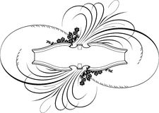 μπαρόκ καλλιγραφία εμβλη Στοκ Εικόνες