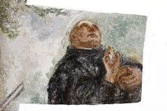 Μπαρόκ νωπογραφίες στο μοναστήρι Sazava Στοκ Εικόνα