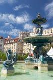 Μπαρόκ πηγή χαλκού ύφους στην πλατεία Rossio Λισσαβώνα Πορτογαλία Στοκ εικόνες με δικαίωμα ελεύθερης χρήσης