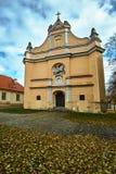 Μπαρόκ πρόσοψη της εκκλησίας Στοκ Φωτογραφία