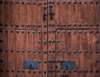 μπαρόκ πόρτα ξύλινη Στοκ Φωτογραφία