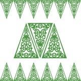 Μπαρόκ πλαίσια διακοσμήσεων τριγώνων Στοκ εικόνα με δικαίωμα ελεύθερης χρήσης