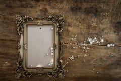 Μπαρόκ πλαίσιο φωτογραφιών Στοκ φωτογραφία με δικαίωμα ελεύθερης χρήσης