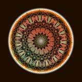 Μπαρόκ σχέδιο mandala κεντητικής Διανυσματική ζωηρόχρωμη floral στρογγυλή διακόσμηση ταπήτων Σύσταση δαντελλών Grunge Κεντημένος  διανυσματική απεικόνιση